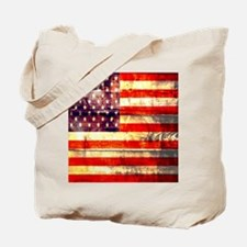 grunge USA flag Tote Bag