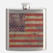 grunge USA flag Flask