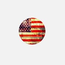 grunge USA flag Mini Button