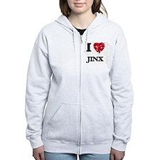 I Love Jinx Zip Hoodie