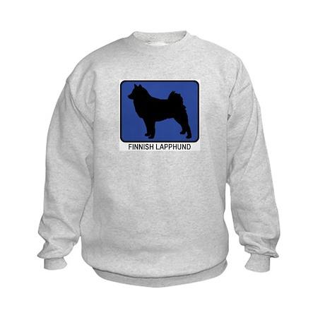 Finnish Lapphund (blue) Kids Sweatshirt