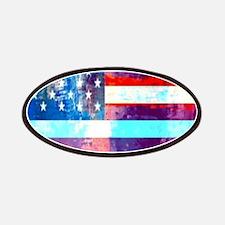 grunge USA flag Patch