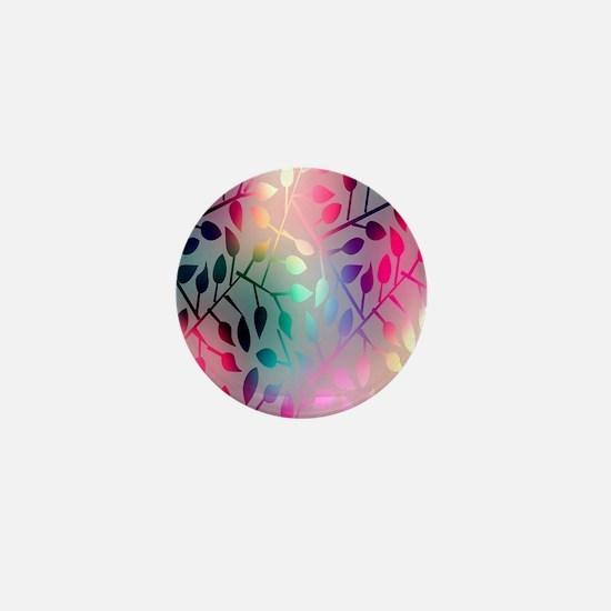 Leaf Rainbow Mini Button