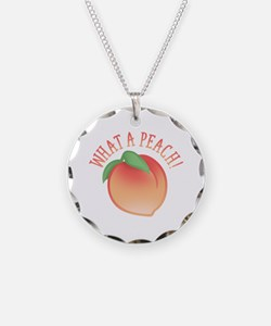 What A Peach Necklace