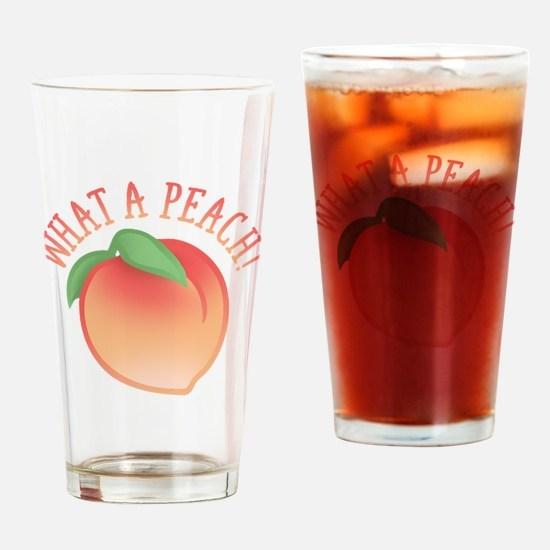 Cute What A Peach Drinking Glass
