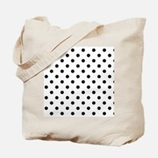 Girls just wanna have dots - white/black Tote Bag