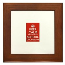 Keep Calm and Ask Your School Counselor Framed Til