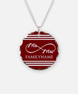 Red Infinity Mr and Mrs Pers Necklace