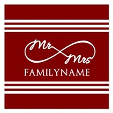 Red Infinity Mr and Mrs Per Invitations
