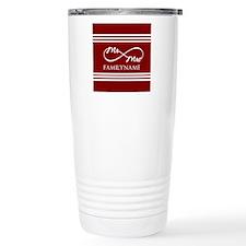 Red Infinity Mr and Mrs Travel Mug