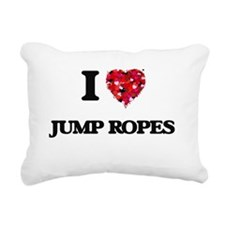 I Love Jump Ropes Rectangular Canvas Pillow