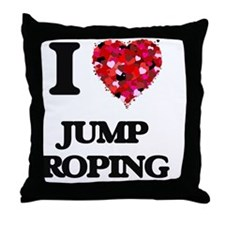 I Love Jump Roping Throw Pillow