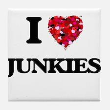 I Love Junkies Tile Coaster