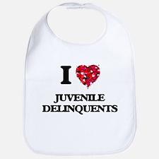 I Love Juvenile Delinquents Bib