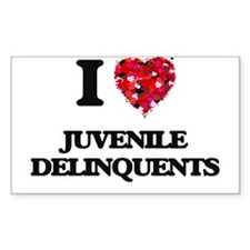 I Love Juvenile Delinquents Decal