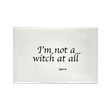 I,m not a witch at all Rectangle Magnet