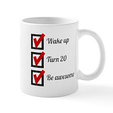 Awesome 20th Birthday Checklist Mugs