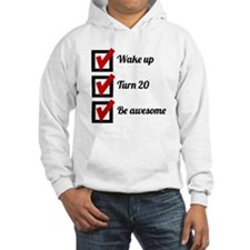 Awesome 20th Birthday Checklist Hoodie