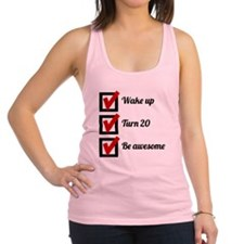 Awesome 20th Birthday Checklist Racerback Tank Top