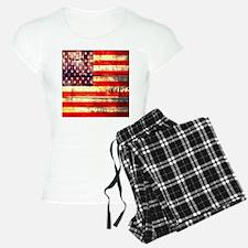 grunge vintage USA flag Pajamas