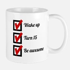 Awesome 15th Birthday Checklist Mugs