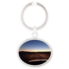 Unique 29 palms Oval Keychain