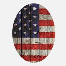 USA flag western country Ornament (Oval)