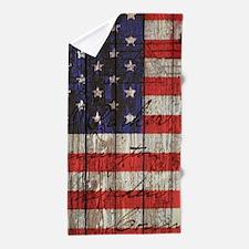 USA flag western country Beach Towel