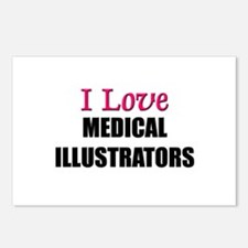 I Love MEDICAL ILLUSTRATORS Postcards (Package of