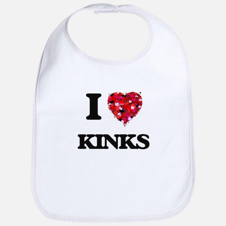 I Love Kinks Bib