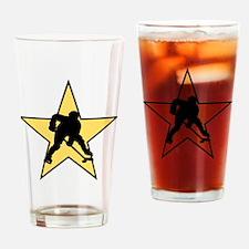 Hockey Star Drinking Glass
