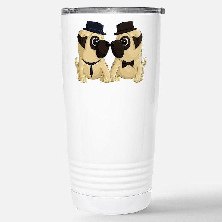 Groom Pugs Travel Mug