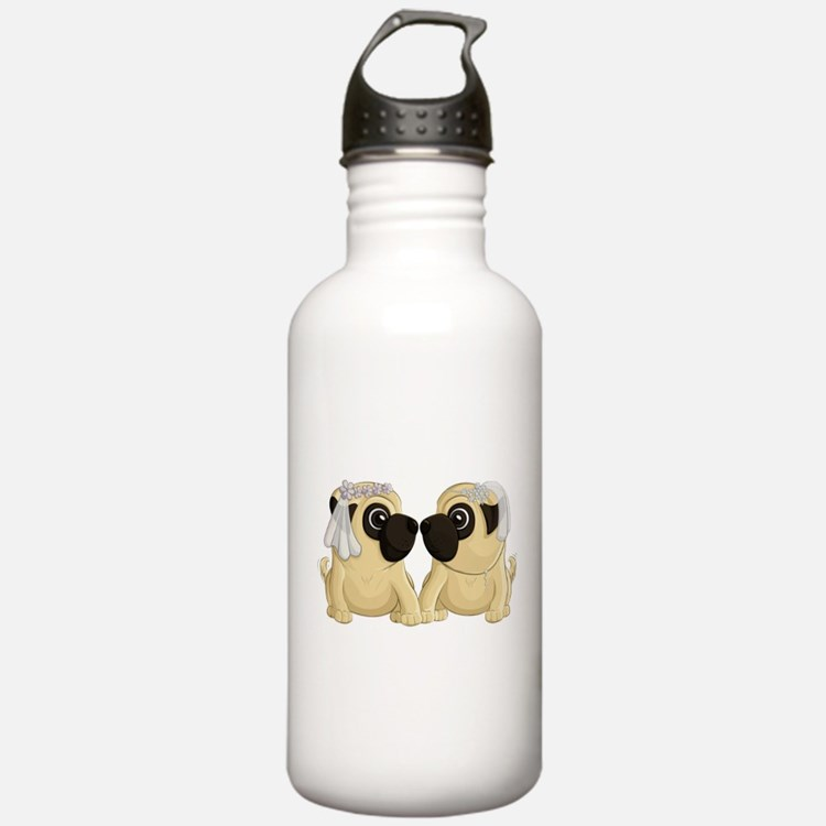 Pug Brides Water Bottle