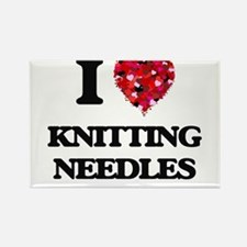 I Love Knitting Needles Magnets