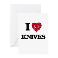 I Love Knives Greeting Cards