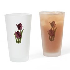 Purple Parrot Tulips Drinking Glass