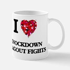 I Love Knockdown Dragout Fights Mug