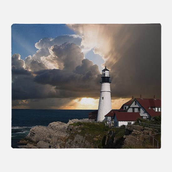 Lighthouse Lookout Throw Blanket