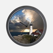 Lighthouse Lookout Wall Clock