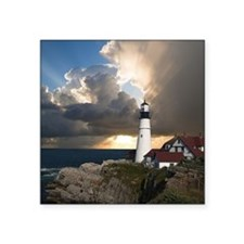 """Lighthouse Lookout Square Sticker 3"""" x 3"""""""