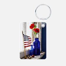 Patriotic Flowers Keychains