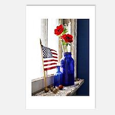 Patriotic Flowers Postcards (Package of 8)