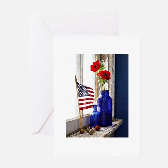 Patriotic Flowers Greeting Cards (Pk of 20)