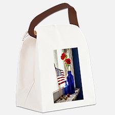 Patriotic Flowers Canvas Lunch Bag