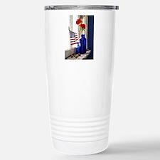 Patriotic Flowers Stainless Steel Travel Mug