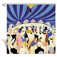 Dancing couples vintage poster 1921 Shower Curtain