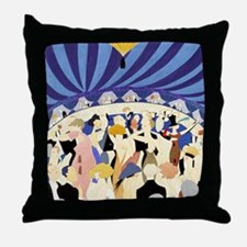 Dancing couples vintage poster 1921 Throw Pillow