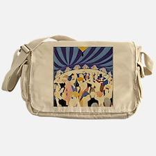 Dancing couples vintage poster 1921 Messenger Bag