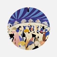 Dancing couples vintage poster 1921 Button