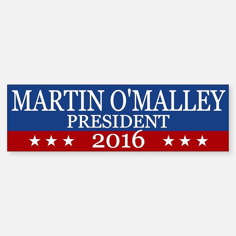 Martin O'malley President 2016 Bumper Bumper Bumper Sticker